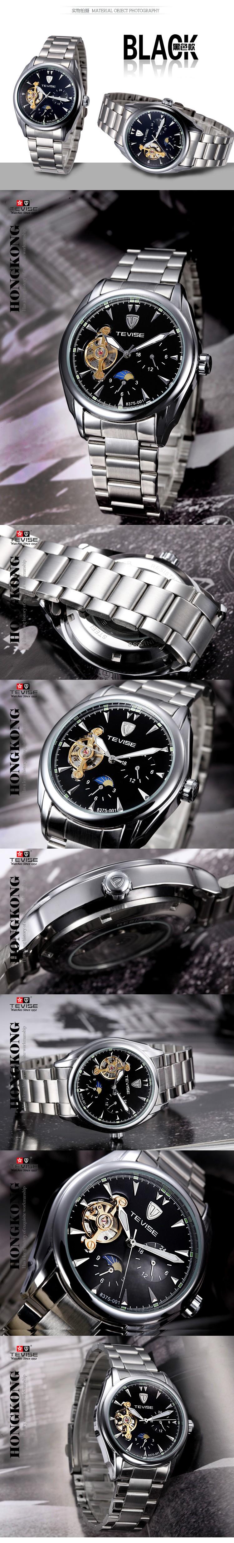 Relojes Hombre Бренд Часы Tourbillon Часы Мужчины Полный сталь Ремешок Механические Часы Мода Повседневная Мужчины Наручные Часы Мужчин Horloge