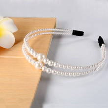 2019 New Arrival Trend Fashion Luxury Big Pearl Headband for Women Hair Band Girls Hairbands Party Pearl Girls Hair Accessories(China)