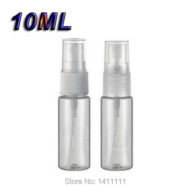 Refillable 10ML Travel Atomizer Plastic Empty Perfume pump Spray Bottle Ladies Gifts 300PCS/LOT DHL/Fedex Free PB71(China (Mainland))