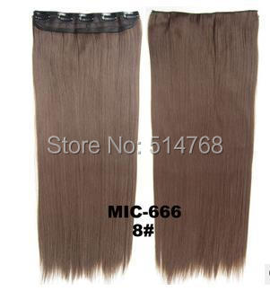 New Long 24inch 60cm 130G Clip Hair Extensions Straight Hairpieces Synthetic - Yiwu Will Fashion Shop store