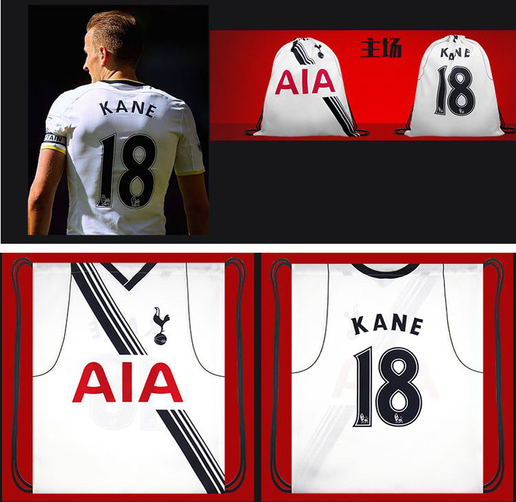 T042_15 16 The Spurs Football Backpack,45X38cm,Adebayor Kane,Shoe bag/Draw Thick String Bag,Fans Articles Souvenirs(China (Mainland))