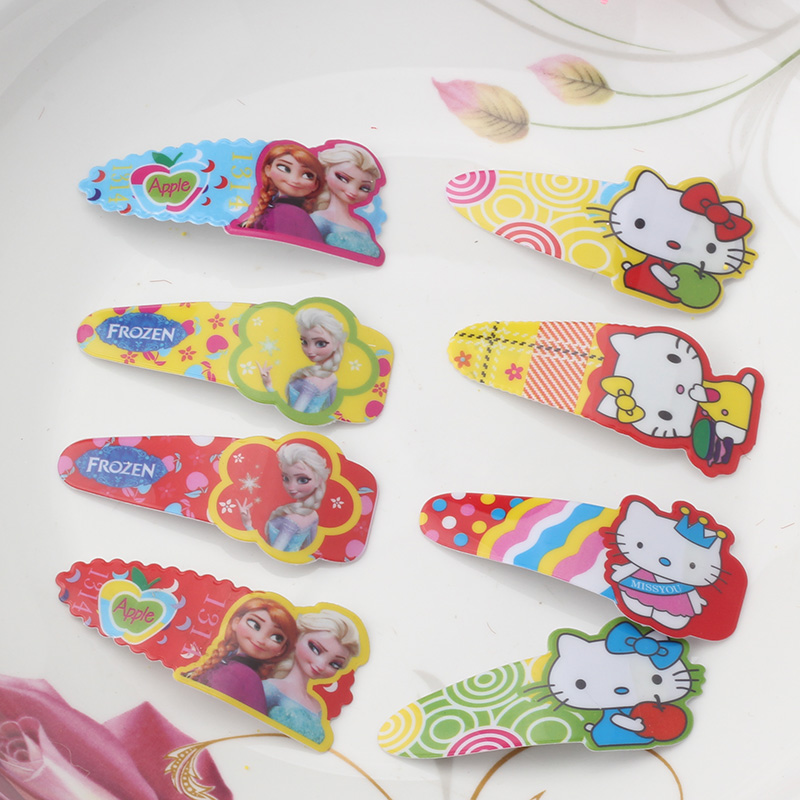 1 PC 2016 Fashion Girls Princess Headwear Hair Clips Cartoon Baby Accessories Hairpins Random Color Kids Children Barrettes(China (Mainland))