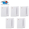 5 pieces automatic 433mhz Wireless magnetic door window sensor without antenna for alarm system