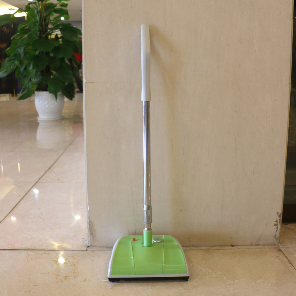 Newest double brush wheel sweeper, magic floor carpet sweeper, rechargeable plastic sweeper(China (Mainland))