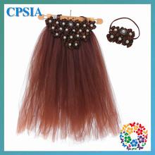 tutu skirts for baby Brown party stylish skirts fashion with headband set--12sets/lot(China (Mainland))