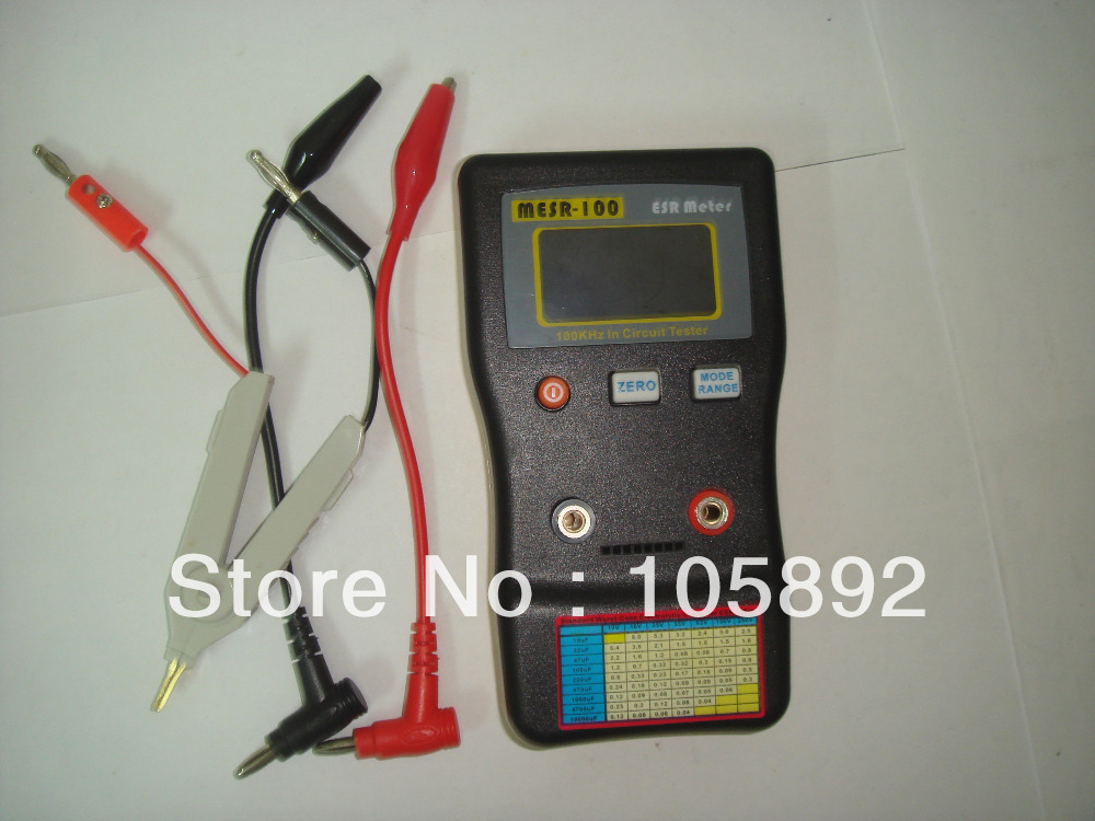 Upgrade MESR-100 AutoRanging ESR Capacitor / Low Ohm Circuit Meter 0.01 100R - 1Kins Technology Co.Ltd store