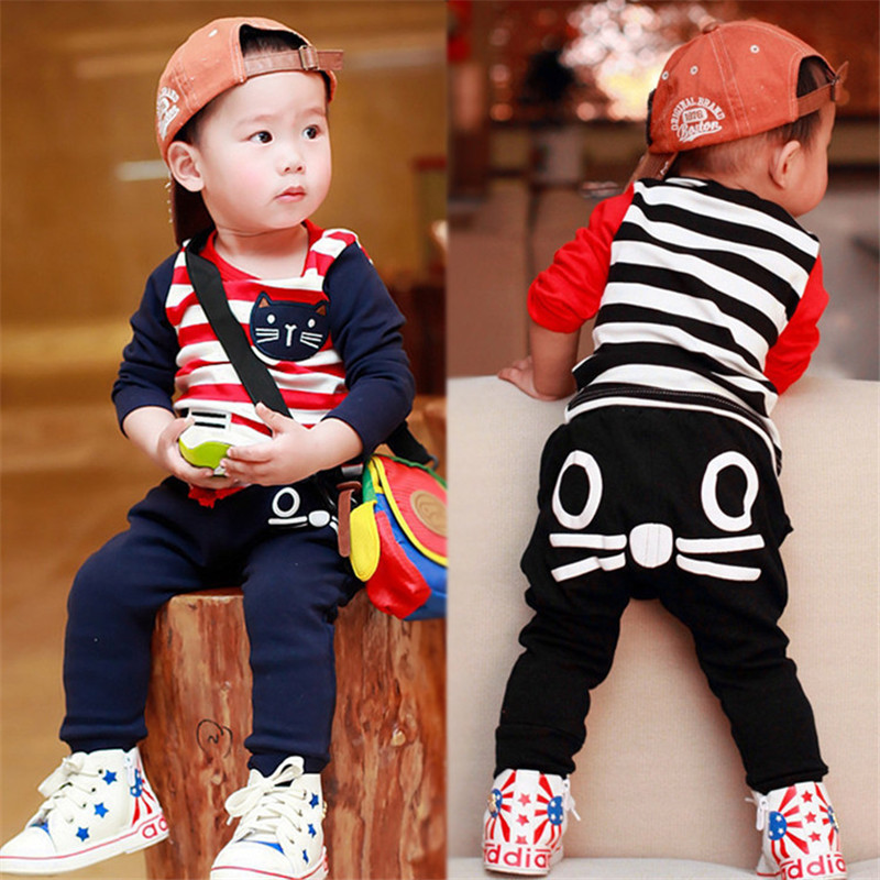 autumn casual baby clothes for girls girl set suit 3