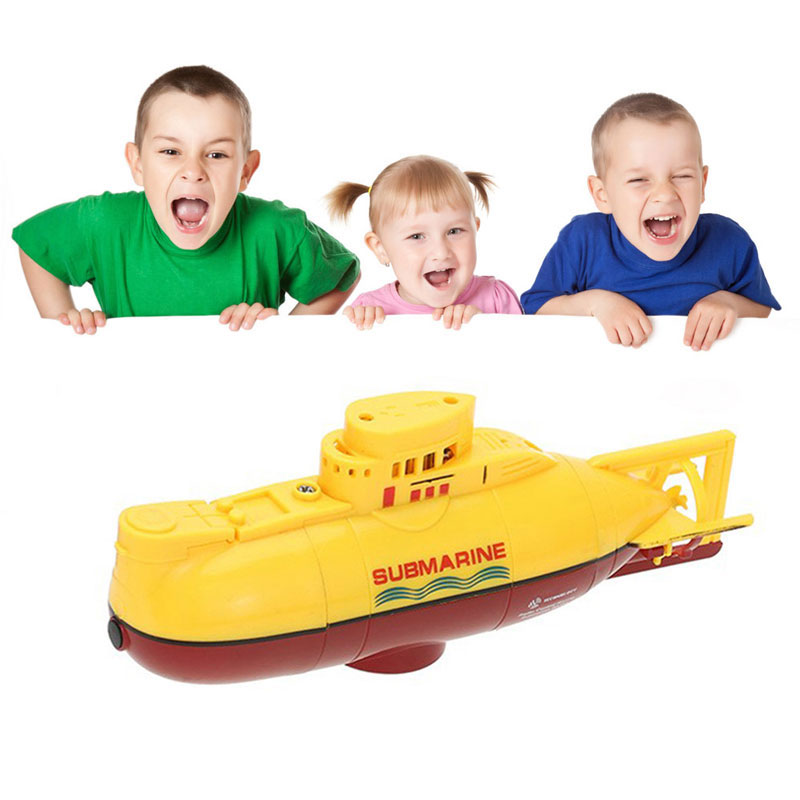 Hot Sale 3311 Sea Wing Star 27MHz Radio Control Submarine Tourism Boat Toy Yellow Color High Quality