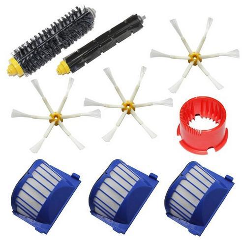 AeroVac Filter +side brush +tool kit for iRobot Roomba 600 Series 595 620 630 650 660 Vacuum Cleaner Accessories replcaement(China (Mainland))