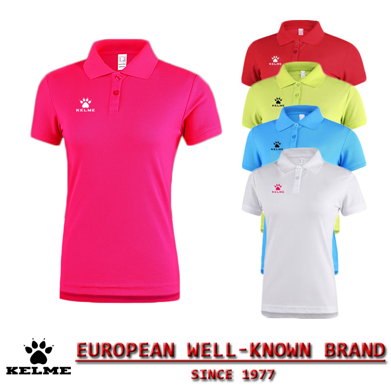 KELME Official Spain Golf POLO Shirts Women 2016 Dry Fit Solid Golf Horse Tops Tee Polo Football Soccer Camisa Polo 28(China (Mainland))