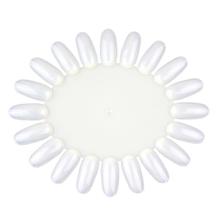 1051-False Nail Tips Display Nail Art Acrylic Practice Wheel Board Milky White Color DIY Nail Tool