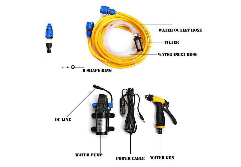 12V 80W High Pressure Self-priming Electric Car Wash Washer Washing Machine Cigarette Lighter Water Pump with Cigarette Lighter(China (Mainland))