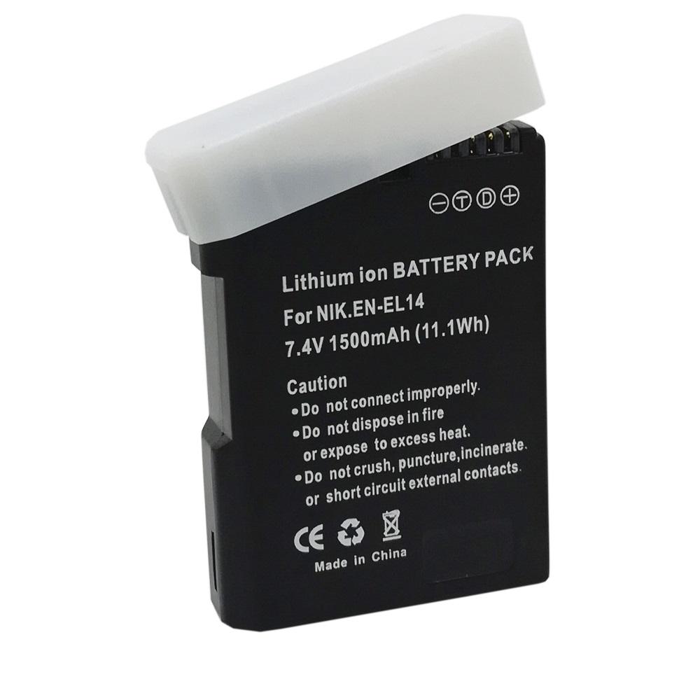 EN-EL14 en-el14a Digital Camera Battery Pcak EN EL14 ENEL14 Nikon Dslr D90 D300 D3100 D5100 D5200 D3200 d5300 P7000 - Online-gifts store