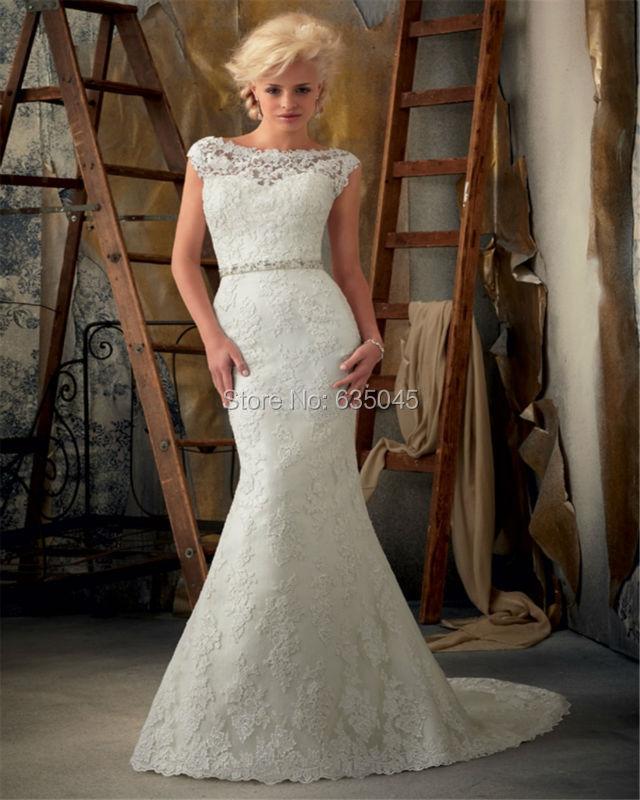 Vestido De Noiva Custom Made Satin Beading Crystal Bow Lace Mermaid Wedding Dress Bridal Gown Robe De Mariage(China (Mainland))
