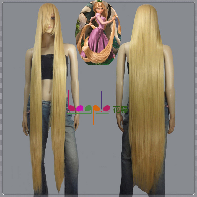 150CM Long Rapunzel Tangled Light Blonde long Straight Cosplay Hair women party Wig - yuehong . Store store