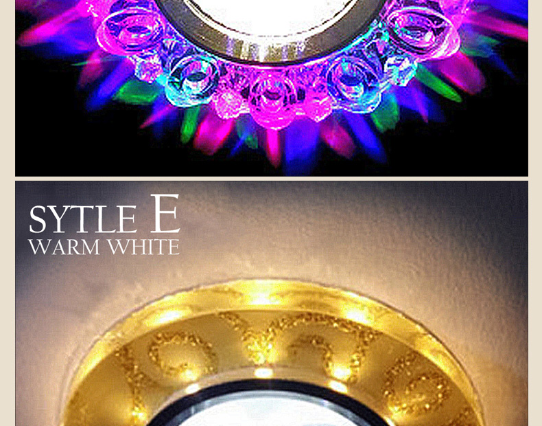 Super Bright Recessed LED Downlight COB 5W LED Spot light LED decoration Ceiling Lamp AC 110V 220V