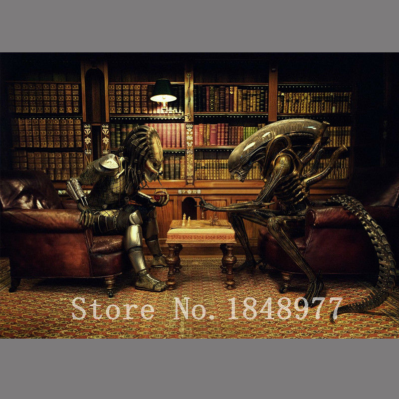 wall art Aliens vs Predator Poster Print oil painting on canvas home decoration for living room wall(China (Mainland))