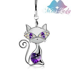cat Mobile chain,2650-38,Fashion jewelry,Australian Imported Crystal