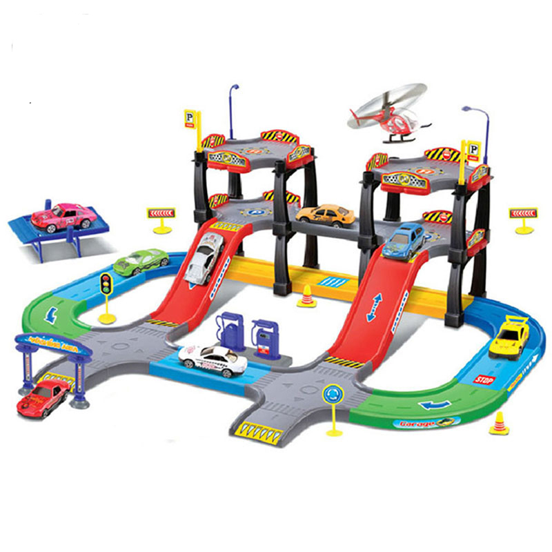Child boy stereo assembling toys set puzzle track toy car(China (Mainland))
