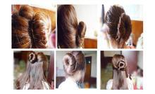 TS 2015 hot sale Women s Magic Foam Sponge Hairdisk Hair Device Donut Quick Messy Bun