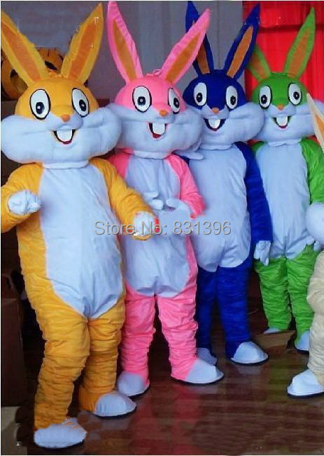 Factory direct sale New Bugs Bunny mascot costume company party wedding supplies christmas costumes EMS shipping(China (Mainland))
