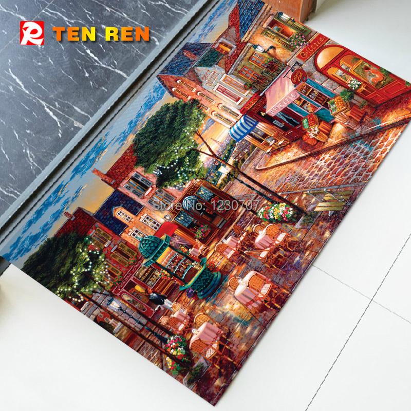 Delicate Anti Slip Floor Mat Door Mat83 Charpet Rug Kitchen Mats Bedroom Pad Hot Selling natural rubber - TEN REN Rubber Products Factory store