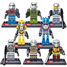 8pcs/lot Transformation Mini Figure movie Kid Baby Toy Building Blocks Sets Model Toys Minifigures Brick robot freeshipping