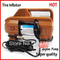 Tire Inflator  car air pump Metal double Cylinder duplex pump  vaporised pump air compressors Pure Copper Core High quality