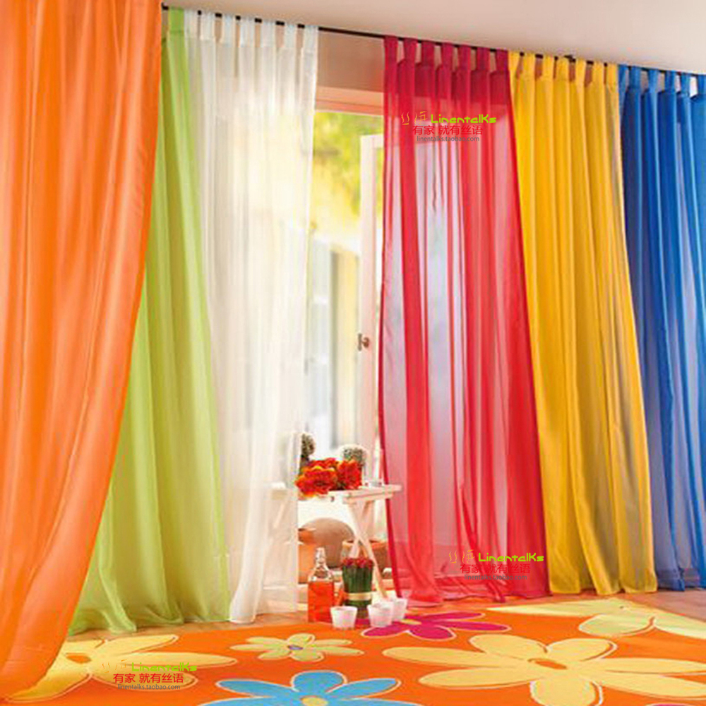 Orange curtains living room - Orange Curtains For Sliding Glass Door Window Curtains For Living Room With Hole Ready Made