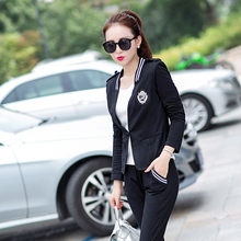 Buy 2017 tracksuit women spring autumn fashion elegant set slim casual tracksuit Three piece set Jackets pants tops 9613 for $31.70 in AliExpress store