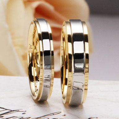 Fashion 925 Sterling Silver Rings for Lovers 18K Gold Plated Classic Couple Wedding Rings Women Jewelry(China (Mainland))