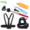 Accessories For Gopro Go pro Monopod Tripod Float Bobber Chest Belt Strap For Gopro Hero 4