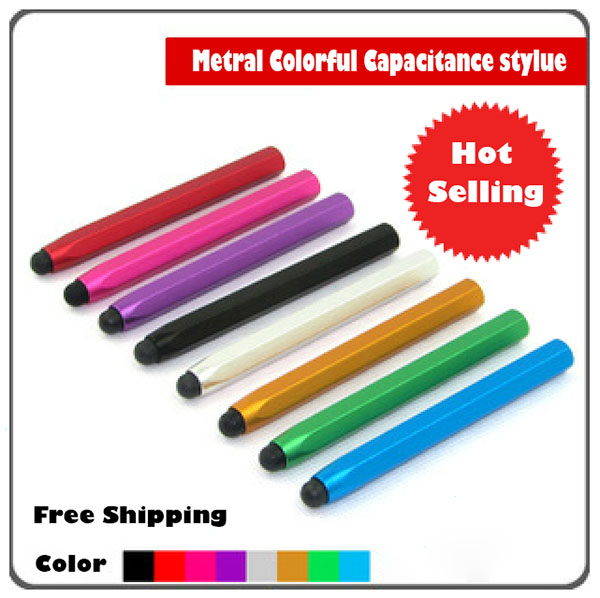 200pcs Wholesale Metal Capacitive Touch Pen Stylus For iPhone iPod Touch iPad For samsung Tablet /Blackberry /Motorola XOOM(China (Mainland))
