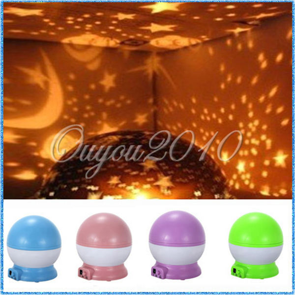 Hot Sale Rotation Romantic Room Lamp Cosmos Starry Star Night Light Sky Projector USB Home Decoration Great Gift Baby Care(China (Mainland))