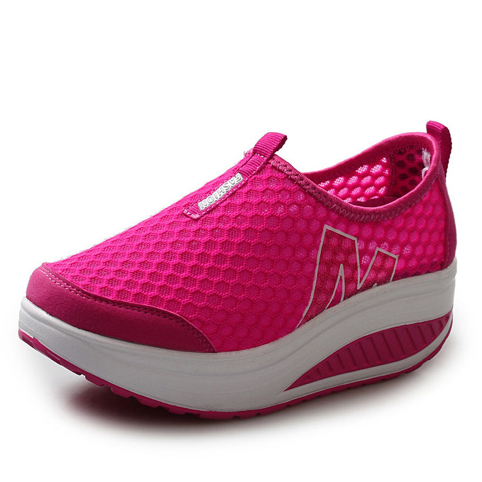 2016 Summer Shoes Women Causal Sport Fashion Walking Flats Height Increasing Women Loafers Breathable Air Mesh Swing Wedges Shoe(China (Mainland))