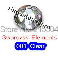 GENUINE Swarovski Elements ss8 Crystal clear ( 001 ) 144 pcs Iron on 8ss Hot fix Flatback Glass 2038 Hotfix rhinestones Bulk