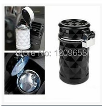 New Car Accessories LED Ashtray Portable Car Auto/Home/Office Smokeless Ashtray Cigarette Cylinder Ashtray Holder Cup 4S shop(China (Mainland))