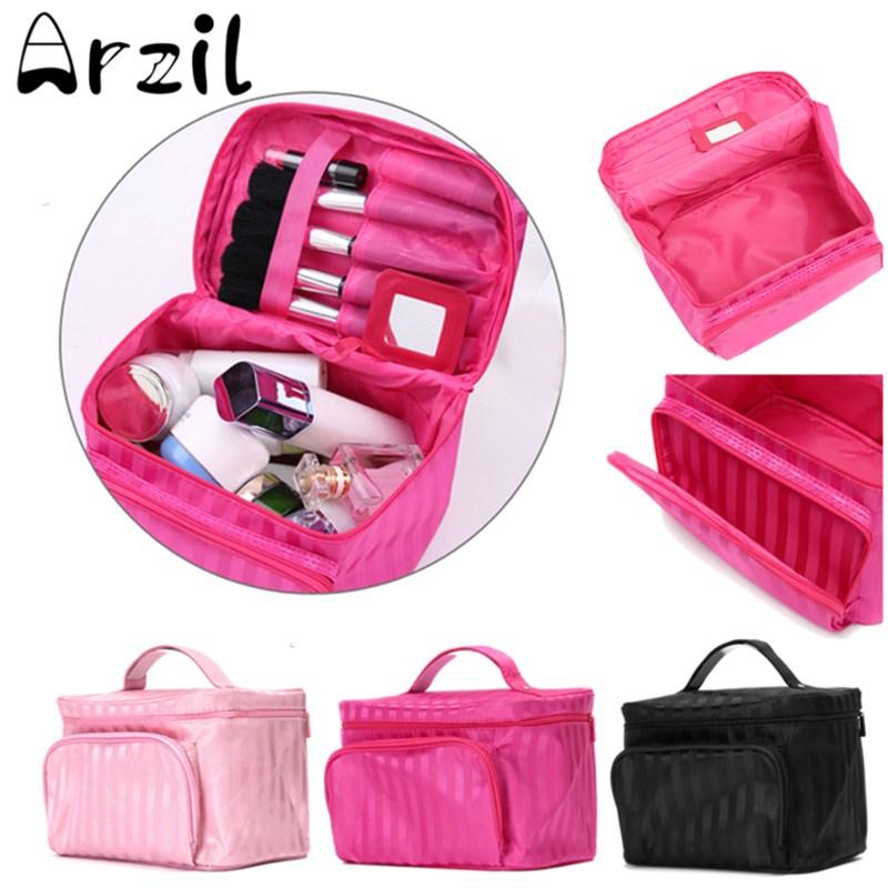 Make Up Organizer Toiletry Bag Cosmetic Bag Zipper Makeup Bag Beauty Case Kits Storage Travel Wash Pouch New Man Women(China (Mainland))