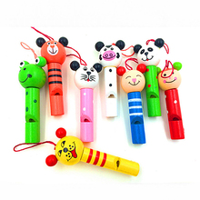K43 2016 Hot Sell New infant early childhood educational toys wooden cartoon children's mini whistle wind instrument(China (Mainland))