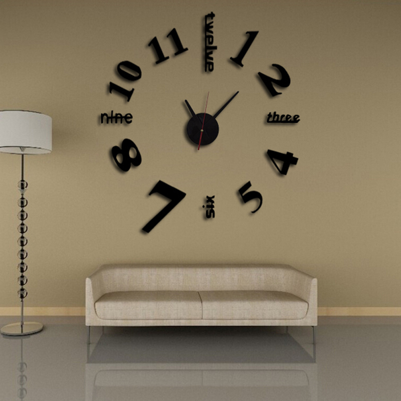 2016 new 3d clock wall clocks reloj de pared watch large - Reloj decorativo de pared ...