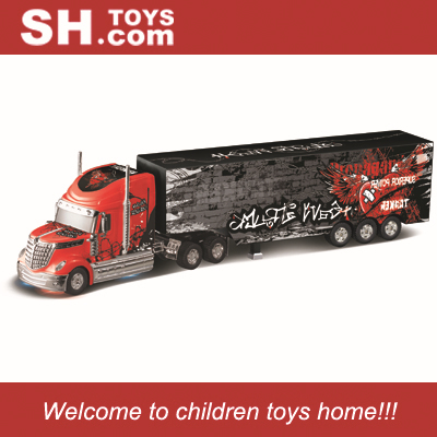 1:32 remote control 6CH plastic container rc trailer truck with autoload container functions(China (Mainland))