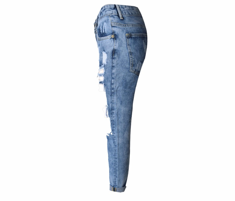 Europe and the loose jeans  hole bull-puncher straight short pants nine minutes of pants SK25