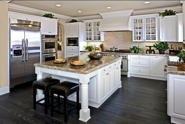 2017 Free design Custom American solid wood kitchen cabinet with solid wood door panels customized color