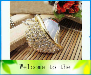 metal crystal heart necklace  USB 2.0 Memory Stick Flash Drive, free shipping 1GB 2GB 4GB 8GB 16GB 32GB Ub3