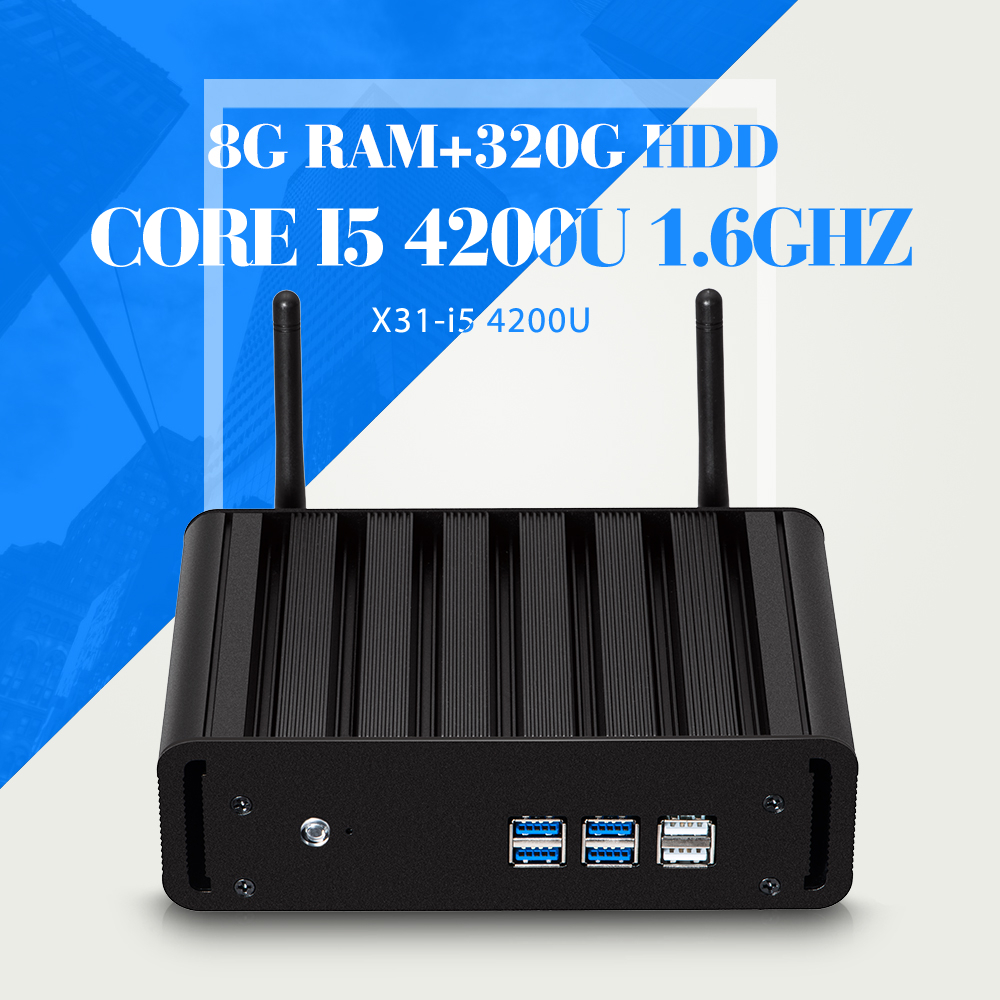 Hot Selling Mini PC I5 4200U 8G RAM+320G HDD+WIFI Thin Client Wireless Terminal Home Computer Windos Xp Support Hd Video(China (Mainland))