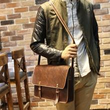 2014 new arrive men messenger bags pu leather shoulder bag travel men bag high quality6227
