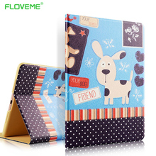 FLOVEME Color Print Flip Leather Cases For iPad mini 1 2 3 4 iPad air 1 2 Stylish Ultra Thin Kickstand Shockproof Bumper Cover(China (Mainland))