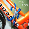 Hot sale! Newest Universal Bike Bicycle Password Lock Cycling Security Cable 4-digit Combination Blue XM50(China (Mainland))