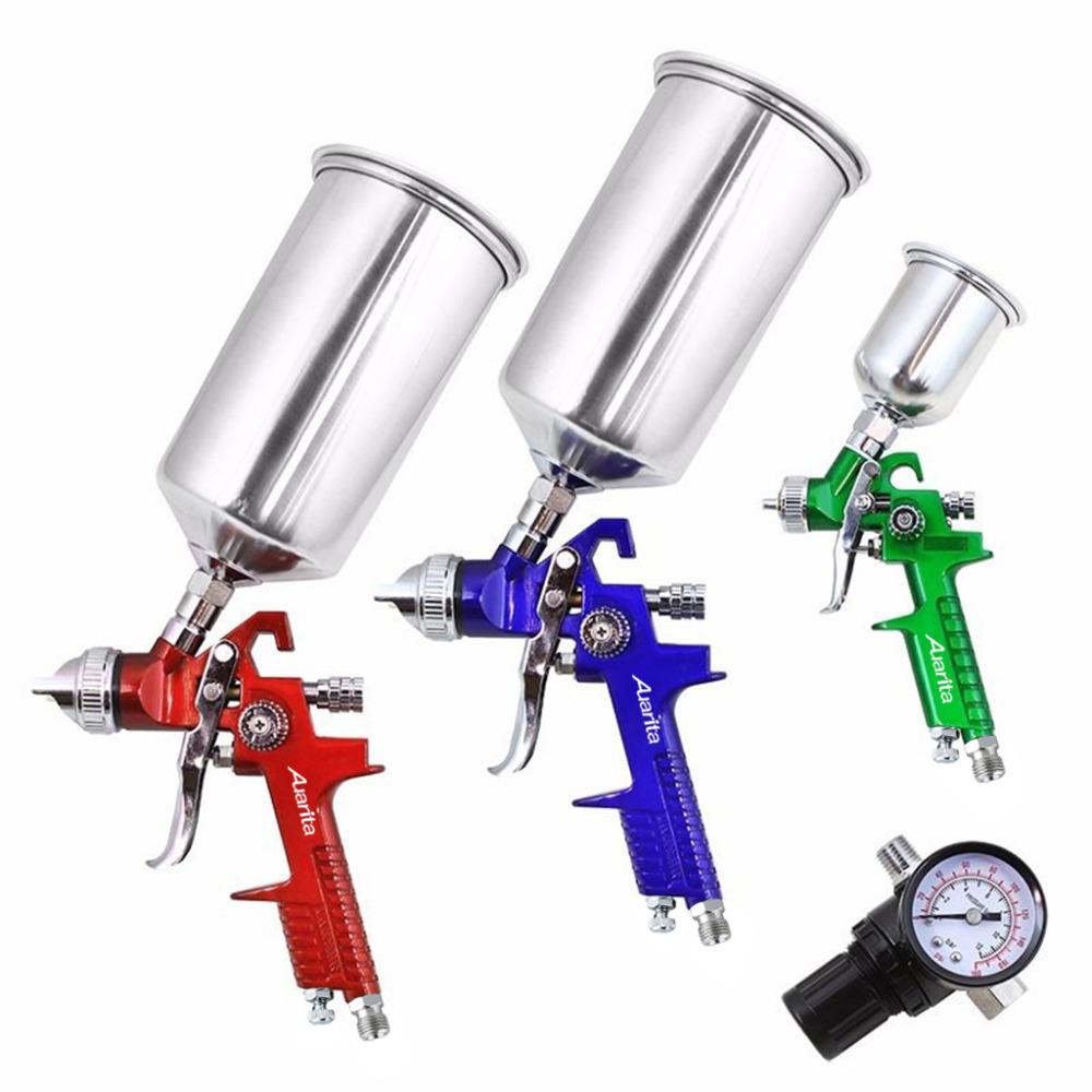 3 шт. HVLP / обычный воздух пистолета-распылителя комплект комплект профессиональных пистолет самотеком краскораспылителем-free ремонт автомобилей инструменты 0.8 мм / 1.4 мм