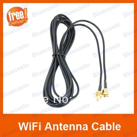 New Arrival 3M 10FT WiFi Antenna RP-SMA Extension Cable Cord For Wi-Fi Router Wireless Adapter Retail(China (Mainland))